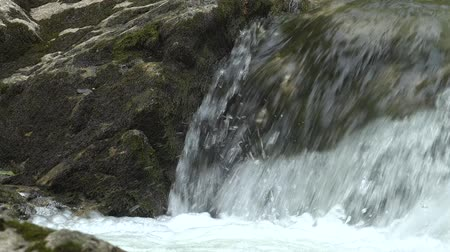 moloz : The rapids of a mountain river. Stok Video