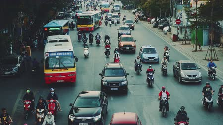 congested : Congested Road In Hanoi, Busy Rush Hour, Infrastructure, Transportation, Vietnam