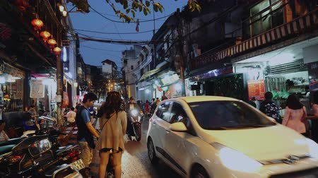 gündelik : Everyday City Life With People And Traffic, Hanoi, Vietnam, Asia.