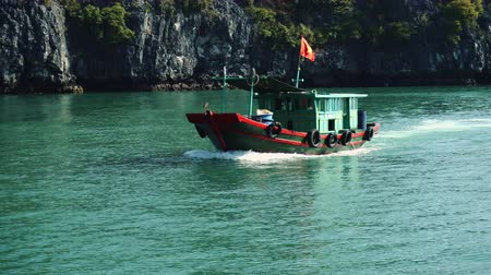 ba : Boat At Ha Long Bay, Vietnam.