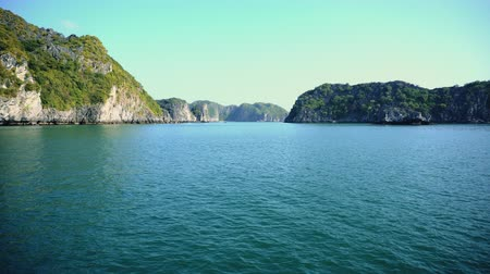 halong : Beautiful Scenic View In Lagoon Halong Bay, Cat Ba Island Vietnam