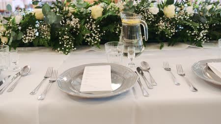 příbory : Beautiful Serving Exquisite Wedding Table at the Exquisite Banquet