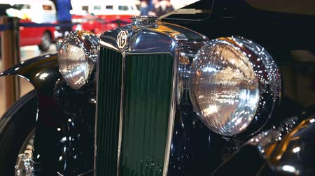 mg : Retro car front view. Luxury edition