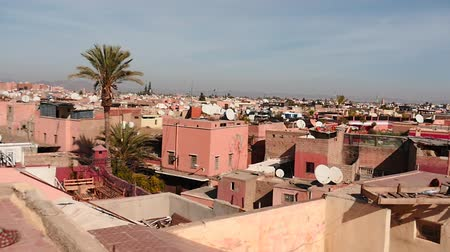 marrocos : Round view from the roof in Marrakesh in Morocco
