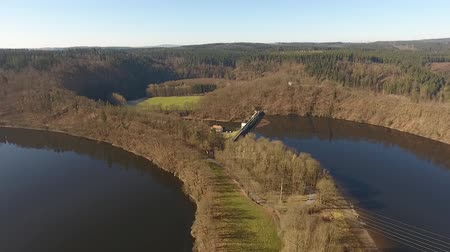защелка : The Castle Burgk in Germany aerial view Стоковые видеозаписи