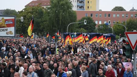 uzak : Chemnitz, Germany - September 01, 2018: Afd demonstration Trauermarsch