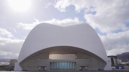 kanarya adaları : The art of architecture is the exterior of the auditorium. Roof of a beautiful modern spanish building Auditorio de Tenerife