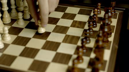 Playing Chess Close Up