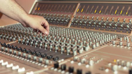Music  studio mixing console