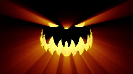 dynia : Jack-O-Lantern, Halloween Pumpkin, Scary Shape. Wideo