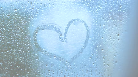 fogged : heart on sweaty glass with your finger bw stylised
