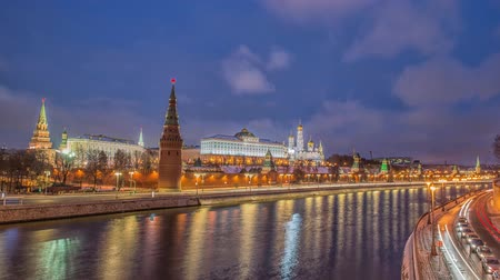 moskwa : Sunrise view of Moscow Kremlin and Moscow River in Moscow, Russia. Moscow architecture and landmark, Moscow cityscape
