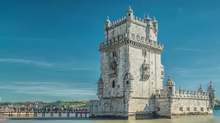 belem : Lisbon, Portugal. Belem Tower (Torre de Belem) is a fortified tower located at the mouth of the Tagus River.
