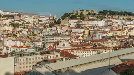 miradouro : Lisbon, Portugal skyline towards Sao Jorge Castle