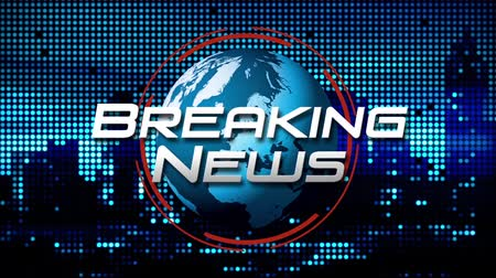 Breaking News Animated News  Broadcast Graphic (blue)