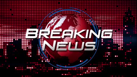 Breaking News Animated News  Broadcast Graphic (red) Wideo