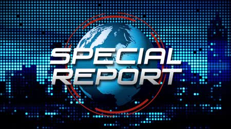 Special Report Animated News  Broadcast Graphic (blue) Wideo