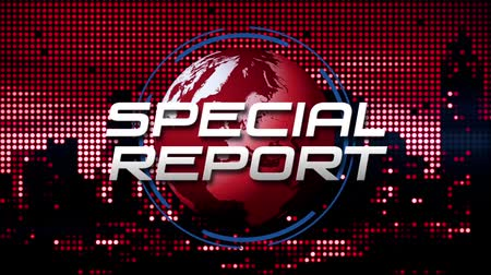 """Special Report"" Animated News  Broadcast Graphic (rood)"