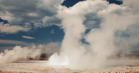 geiser : Geiser, Geothermische Hete Lente, Yellowstone National Park, Wyoming 2