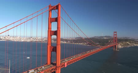 Iconic Landmark: Golden Gate Bridge, San Francisco City Scenic, California
