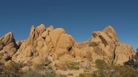 Joshua Tree National Park Rocky Landscape Pan 2 Stockvideo