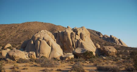 Joshua Tree National Park Rocky landscape pan