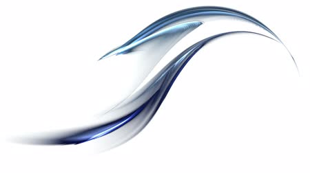 dinamik :  dynamic  wavy  blue stream,  flowing energy,  abstract motion on white background, animated  illustration, 30fps, HD1080, seamless loop    Stok Video