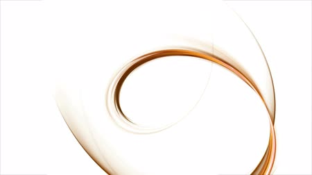 křivky : Dynamic orange rotational motion, circular motion as a metaphor of speed and power, wavy flowing energy on white background,  animation, 30fps, HD1080,   seamless loop