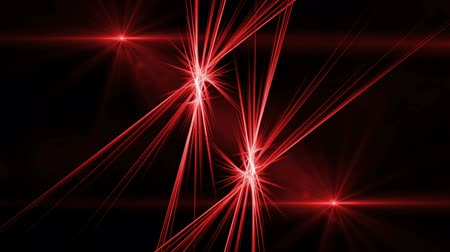 křivky : Red Fibers in Motion Rays of Fiery Light   bright red rays of light in dynamic rotational  motion on black background  abstract illustration   animation 30fps HD1080 seamless loop