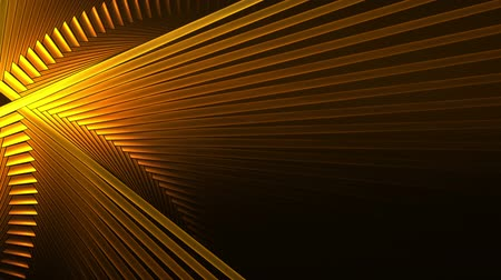black yellow : Yellow Intersected Sticks In Circular Motion  Bright yellow interweave sticks in rotational motion forming circle over black background abstract illustration animation 30fps HD1080   seamless loop Stock Footage