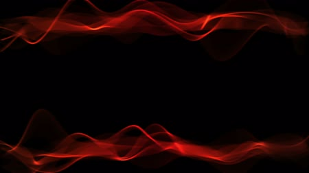 Fiery border on black background with copy space. Blazing red stream, slowly flowing fire flame, frame with glowing light streaks. Animation, abstract illustration, 30fps, HD1080