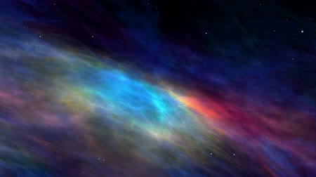 nebulosa : Beautiful colorful nebula and stars, universe, journey through imaginary nebula and star fields in deep space, dynamic background, animation, abstract illustration, seamless-loop