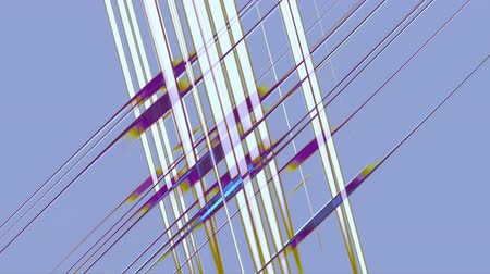 Abstract network, purple and white parallel crossing lines forming grid on violet background, abstract illustration, animation, seamless loop
