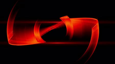 Red gear with flare rotating, circular abstract motion on black background, abstract illustration, animation, 30fps, HD1080, seamless loop