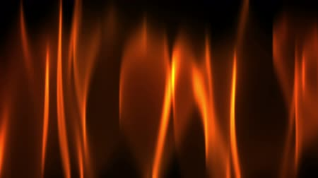Red fire flame on black, motion background.   Abstract illustration, animation, seamless loop Стоковые видеозаписи