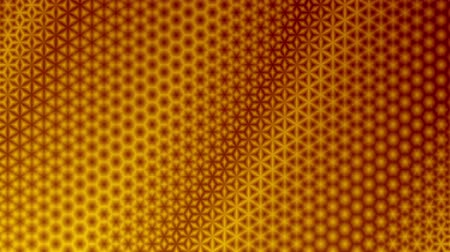 Repeating red and yellow starry pattern design.  Colorful kaleidoscopic  motion graphic background. Animation, abstract illustration, seamless loop