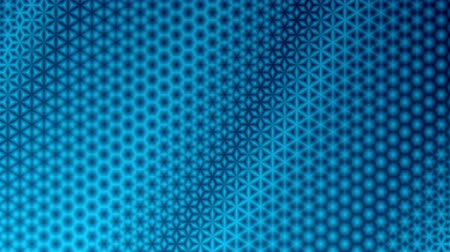Repeating blue starry pattern design.  Colorful kaleidoscopic motion graphic background. Animation, abstract illustration, seamless loop Стоковые видеозаписи