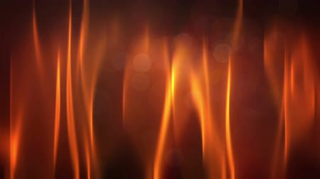Shining light, fire, particles. Vivid red fire flame on black with bokeh, motion background.   Abstract illustration, animation, seamless loop Стоковые видеозаписи