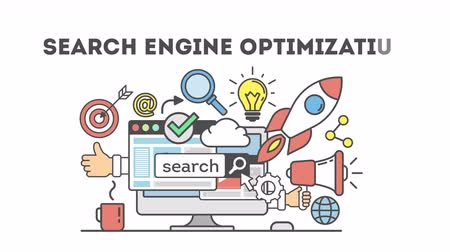 on site research : concept seo optimization in search engine.