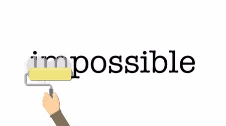 oportunidade : Impossible word gets the in removed to make it possible.