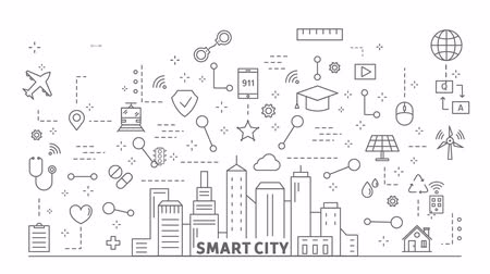 şey : Smart city animation.