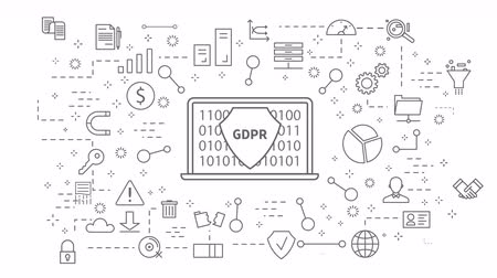 legal : GDPR icons set. on white