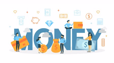 enflasyon : Money concept animation Stok Video