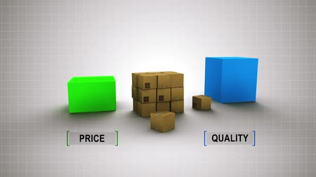 infografik : Scheme: Quality is higher, price is lower