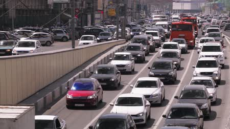 tráfego : Traffic jams in Moscow