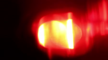 uyarmak : Flashing red LED light, extreme close-up