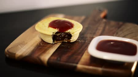 austalian : Meat Pie Stock Footage