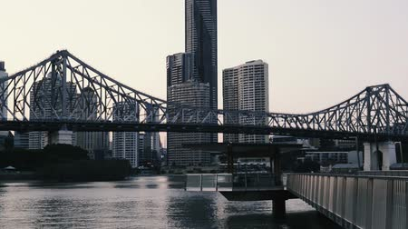 tower bridge : Iconic Story Bridge in the afternoon. Brisbane, Queensland, Australia Stock Footage