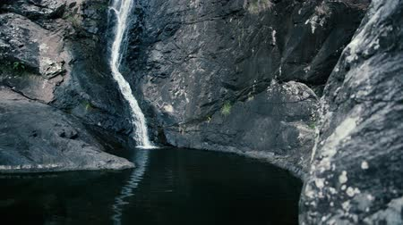 tamburello : Cedar Creek cascata a Mount Tambourine, Queensland. Filmati Stock