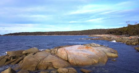 tasmania : Bay Of Fires in Binalong Bay, Tasmania. Stock Footage